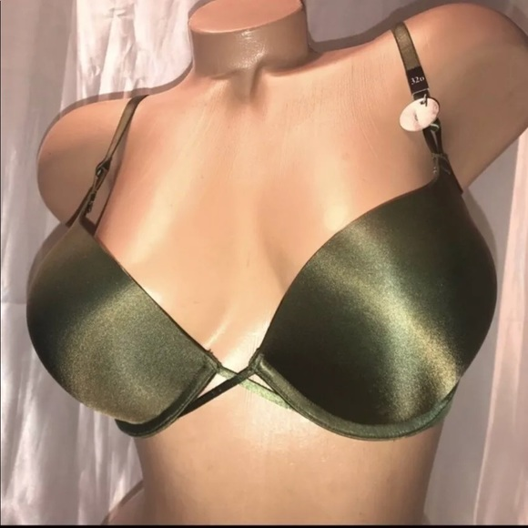 b68571a5cd0cb VS bombshell bra dark army green push up add 2 cup